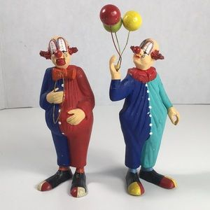 Circus clowns figurines set of 2
